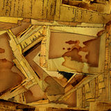 Abstract grunge background with old archive. Letters and photos Royalty Free Stock Photos