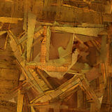 Abstract grunge background with old archive. Letters and photos Stock Photography