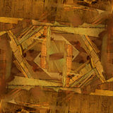 Abstract grunge background with old archive. Letters and photos Stock Image