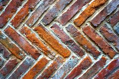 Abstract background - old red brick wall Royalty Free Stock Images