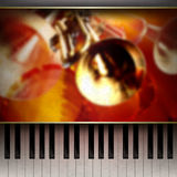 Abstract grunge background with piano on brown Royalty Free Stock Photo