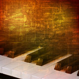 Abstract grunge background with piano keys Royalty Free Stock Photo