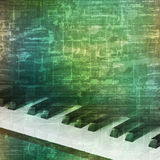 Abstract grunge background with piano keys Stock Images