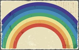 Abstract grunge background with rainbow. Vector Royalty Free Stock Photo