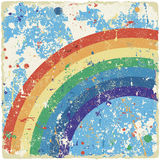 Abstract grunge background with rainbow. Vector Stock Photos