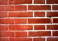Abstract grunge background - red brick wall Stock Images