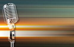 Abstract grunge background with retro microphone Royalty Free Stock Photography