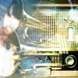 Abstract grunge background with retro radio Royalty Free Stock Images