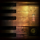 Abstract grunge background with retro radio Stock Image