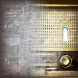 Abstract grunge background with retro radio Stock Photo