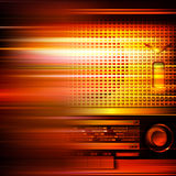 Abstract grunge background with retro radio Royalty Free Stock Image