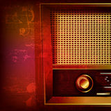 Abstract grunge background with retro radio Stock Photography
