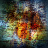 Abstract grunge background with scratches and bricks Stock Photos
