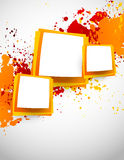 Abstract grunge background with squares Stock Photography
