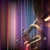 Abstract grunge background with trumpet Stock Images