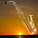 Abstract grunge background with trumpet Royalty Free Stock Photo