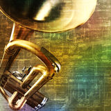 Abstract grunge background with trumpet Royalty Free Stock Photography