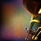 Abstract grunge background with trumpet Royalty Free Stock Image