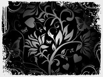 Abstract grunge background of vector floral design Stock Photography