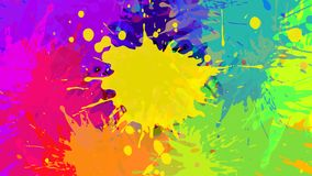 Abstract grunge background, vector. Wide format abstract colorful grunge background. Place for text. Paint splashes. Background for presentation business card stock illustration