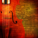 Abstract grunge background with violin Stock Images