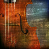 Abstract grunge background with violin Stock Photos