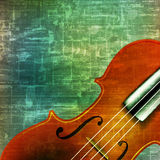 Abstract grunge background with violin Stock Photography