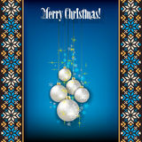 Abstract grunge background with white Christmas tr Stock Photo