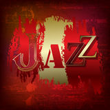 Abstract grunge background with word Jazz Stock Photography