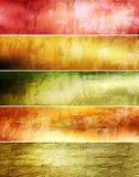 Abstract grunge banners set. Raster artwork Stock Photos
