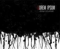 Abstract grunge black background with place for your text. Vector illustration royalty free illustration