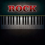 Abstract background with word rock and piano Royalty Free Stock Photo