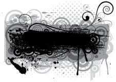 Abstract grunge black brush design Stock Photo