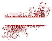 Abstract grunge bloemenframe. Vector Illustratie