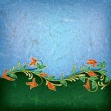 Abstract grunge bloemenornament royalty-vrije illustratie