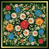 Abstract grunge bloemenornament Stock Illustratie