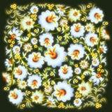 Abstract grunge bloemenornament met bloemen Vector Illustratie