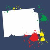 Abstract grunge blot textspace. Abstract  grunge blot textspace Stock Image