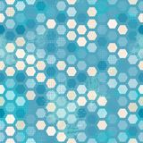 Abstract grunge blue cells seamless Stock Photo