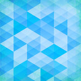 Abstract grunge blue triangles vector background Royalty Free Stock Photos