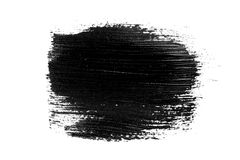 Abstract grunge brush stroke isolated. Abstract grunge brush stroke made with slack acrylic paint, isolated on white. Perfect for your design stock photo