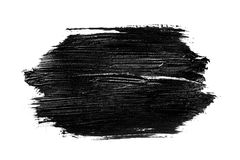 Abstract grunge brush stroke isolated. Abstract grunge brush stroke made with slack acrylic paint, isolated on white. Perfect for your design stock illustration