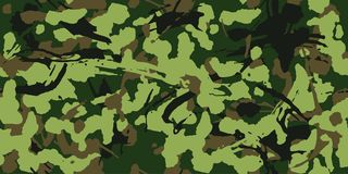 Woodland grunge camouflage, seamless pattern. Military urban camo texture. Army or hunting green and brown colors. Abstract grunge camouflage, seamless pattern vector illustration