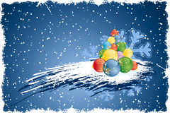 Abstract grunge Christmas tree stock photography