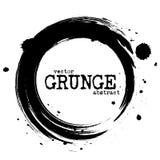 Abstract grunge circle shapes . Vector.  royalty free illustration