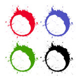 Abstract grunge circles Royalty Free Stock Images