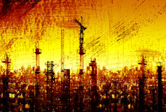 Abstract grunge city Royalty Free Stock Images