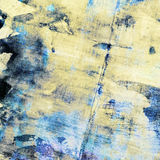Abstract grunge collage blue and yellow color background Stock Images