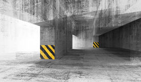 Abstract grunge concrete parking interior. 3d illustration Stock Photo