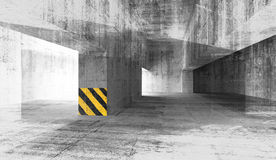 Abstract grunge concrete urban interior. 3d illustration Stock Photos